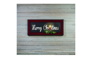 LIGHTED LARGE CHRISTMAS CANVAS