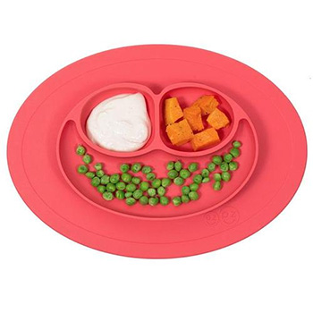 Silicone Feeding Placemat and 3-Section Plate - $19.99 with FREE shipping!